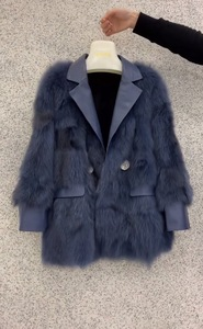 2019 autumn and winter Korean version of the new fox fur PU fur all-in-one long faux fur coat women