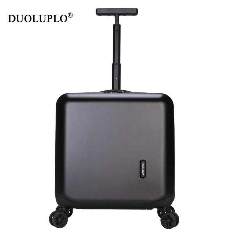 登机箱18寸万向轮静音商务旅行箱密码超轻小行李箱男女迷你拉杆箱
