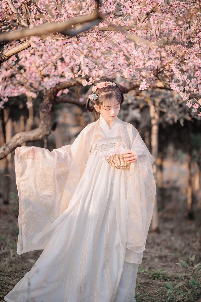新款古装汉服荣姬复刻上襦齐胸襦裙汉服套装女现货大袖衫齐胸襦裙