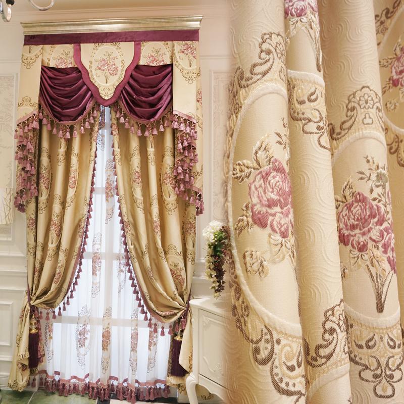 伊莲娜 奢华大气欧式田园窗帘定制 豪华法式客厅卧室遮光窗帘成品