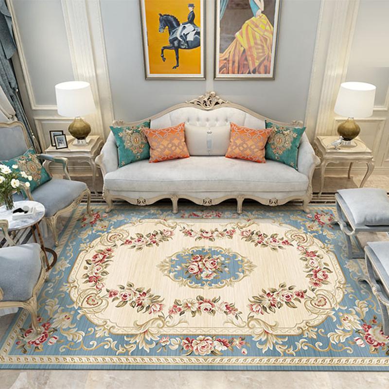 欧式客厅沙发地毯茶几卧室床边地毯榻榻米防滑地垫可水洗定制地毯