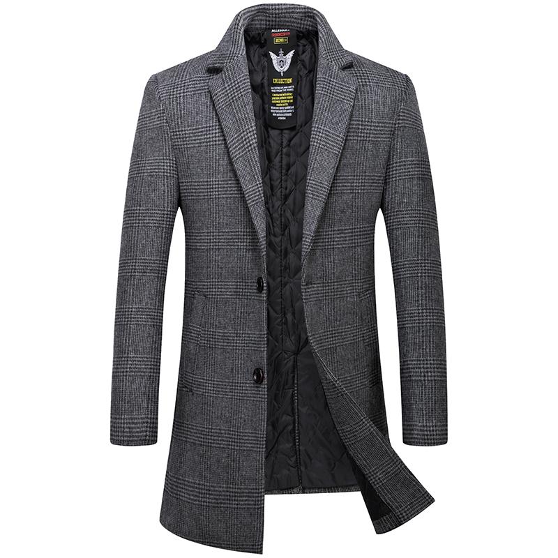 男士羊绒呢大衣中长款羊毛泥子风衣商务中年秋冬季加厚毛呢外套潮