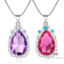 苏菲亚护身符项链 紫km7水晶  xx法宝石 公主 漂亮宝宝项链