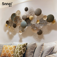 Nordic style wall hangings Creative wrought iron wall decoration solid wall decoration Living room background wall decoration pendant