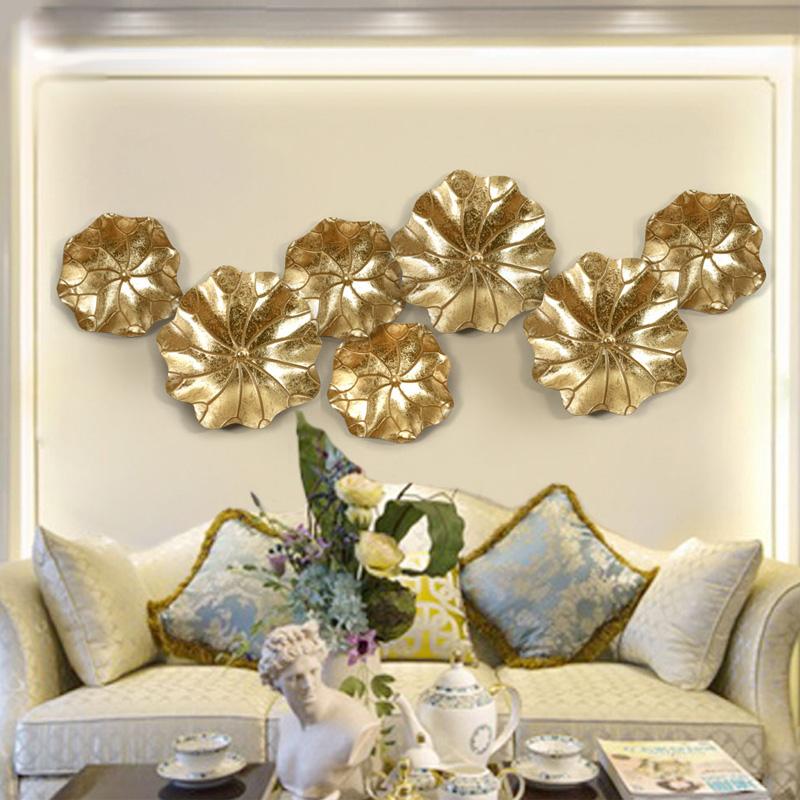 创意立体墙饰壁饰 欧式荷叶装饰挂件 家居客厅铁艺壁挂饰