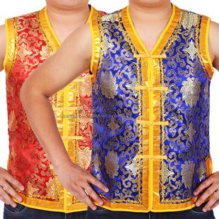 蒙古族马甲坎肩男士成人款少数民族风餐厅工作服装上衣舞蹈演出图片