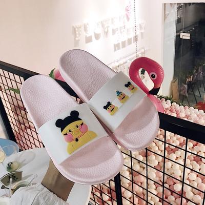 韩国新款居家卡通可爱玻尿酸鸭室内外女拖鞋学生洗澡防滑拖鞋 拍下9.8元包邮
