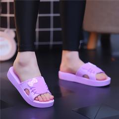 夏季女士韩版厚底凉拖鞋可爱松糕厚底居家浴室室内外休闲凉拖鞋女