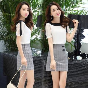 短袖短裙套装裙子女2018夏季
