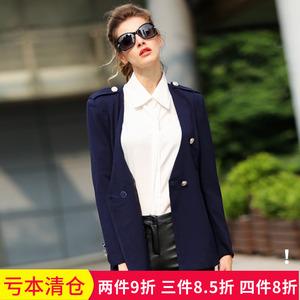清仓@秋冬新款胖mm大码女装宽松修身显瘦OL职业小西装外套