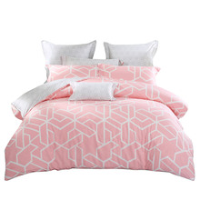 Mercury home textile bedding cotton cotton simple small fresh 1.8m double four-piece character declaration