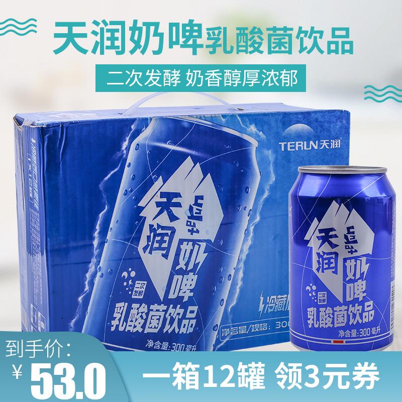 TERUN/天润奶啤乳酸菌饮品300ml*12罐整箱装新疆特产饮品饮料