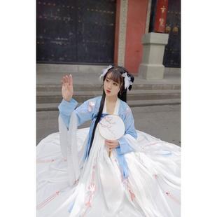梦绘阁正品原创【蓝幽】齐胸襦裙日常刺绣六米摆汉服女春秋套装
