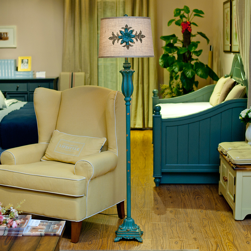 European Style American Country Floor Lamp Coffee Table Lamps Set The Table Model Room Living