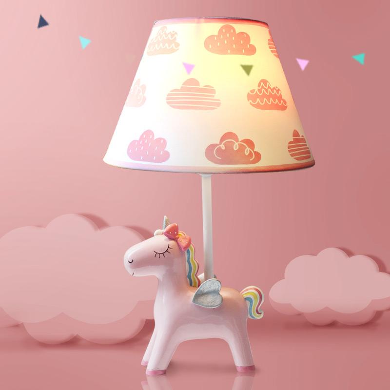 独角兽台灯卧室床头灯 儿童房温馨创意卡通浪漫可爱ins少女心装饰-3只斑马家居灯饰