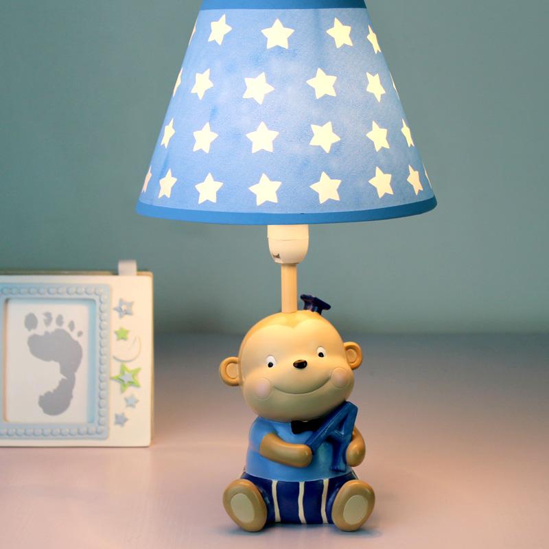 小猴子台灯卧室床头灯LED可调光创意儿童房男孩卡通可爱家用暖色-3只斑马家居灯饰