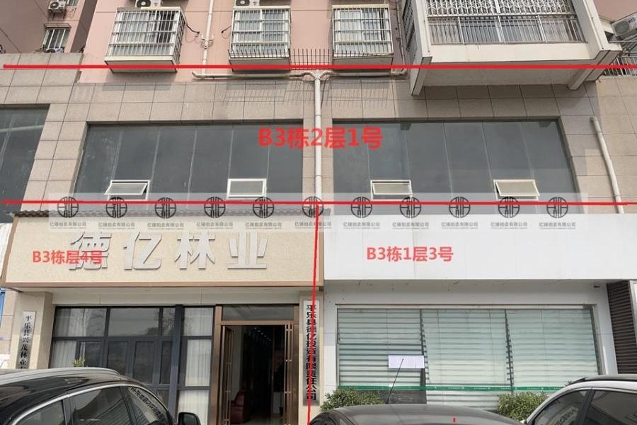 同乐新区科赛江景城B3栋1层3号、B3栋1层4号、B3栋2层1号(住宅)
