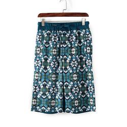 D系列春夏装专柜撤柜男装蓝色格子短裤舒适休闲裤 64523