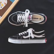 2021夏季新款帆布潮鞋韩版潮流男鞋百搭休闲运动板鞋低帮黑色布鞋