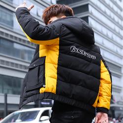 正品牌坦森马男冬季13羽绒棉衣14初中学生高中棉袄15男孩16棉