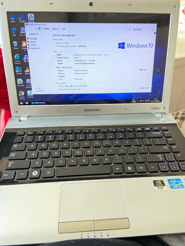 闲置三星老笔记本电脑RV420,换过屏幕,其他一切正常!添加