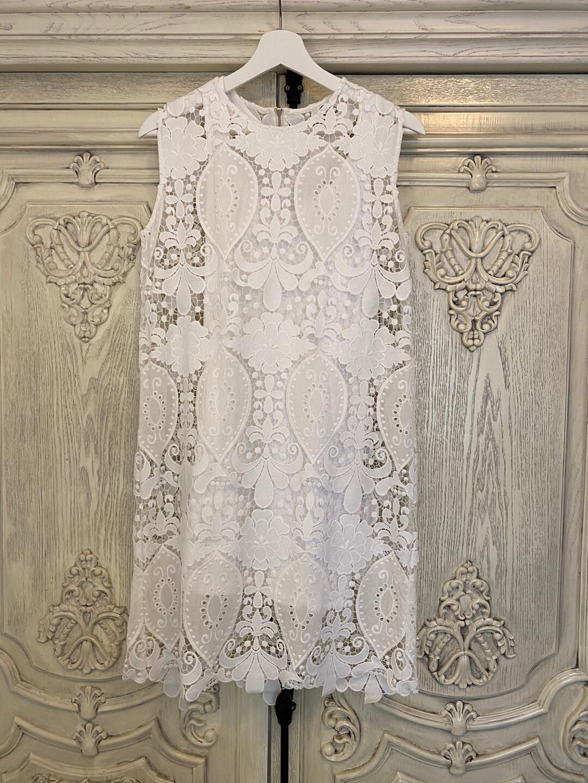 日本单棉质蕾丝背心连衣裙