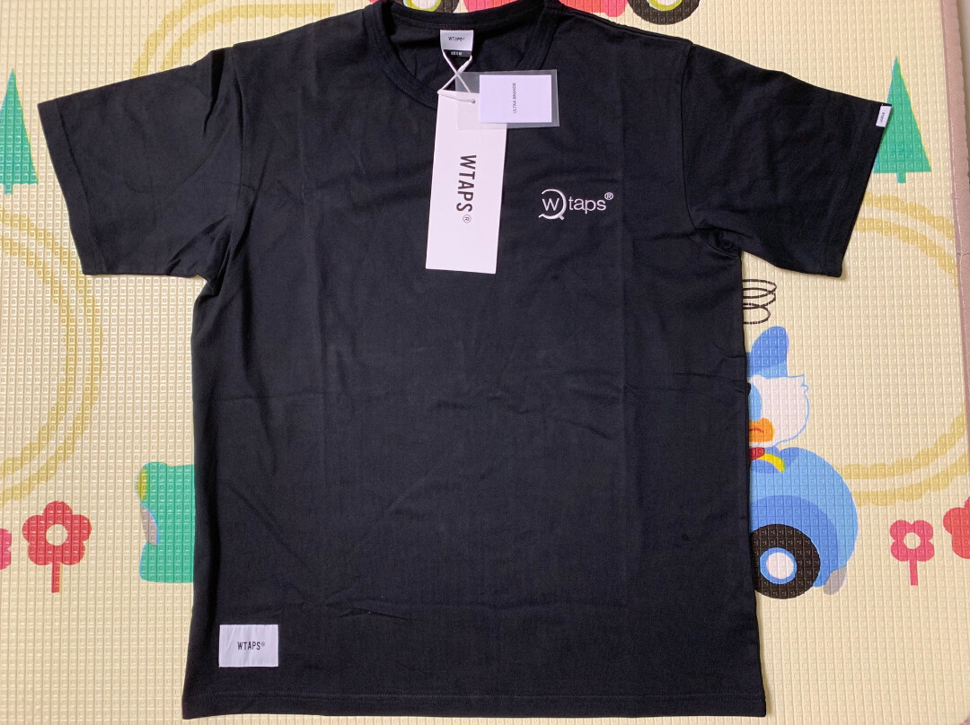 WTAPS刺绣短袖T恤,3码,黑色,肩宽49,衣长72,本人