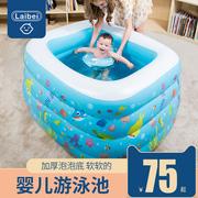 婴儿游泳池家用宝宝充气可折叠保温家庭水池儿童加厚婴幼儿游泳桶