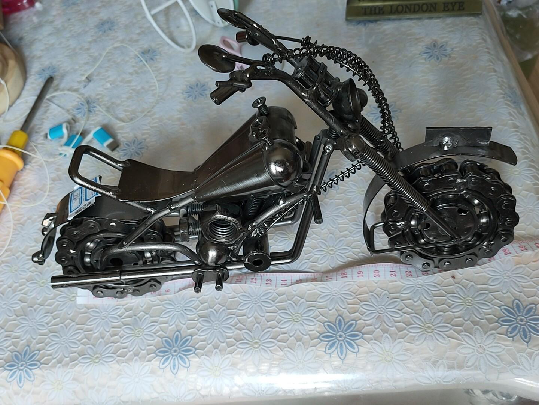 经典大号摩托车摆件,挺重的