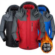 段郎传奇户外冲锋衣冬季加绒加厚保暖棉衣男女同款登山服潮牌外套