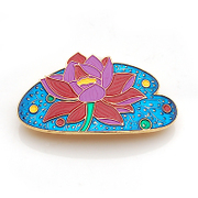 Smiling Korean version of the Lotus Flower Barrette clip headgear top new Korea cross hairpin hair accessories clips side clips 36356