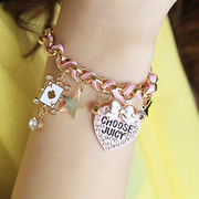 Package mail bracelet female Korean fashion Korea jewelry Ribbon star flowers love heart new Japan series