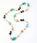 Post the Western necklace Korean jewelry simple Joker beading ladies long fashion necklace