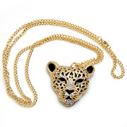 Package mail smiling Leopard heads Korean women pendant necklace collar accessory pendant jewelry pendant unisex