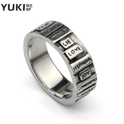 YUKI Thai silver jewelry 925 Silver man personality LOVE pendant Korean jewelry rings silver ring finger ring