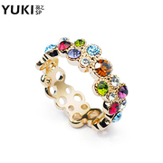 YUKI network female ring Crystal diamond jewelry ring cute bubble creative new ladies '' gifts