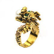 Mu-Mu-retro Chinese style Dragon jewelry ring Rings Jewelry Accessories for men and women born in exaggerated