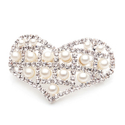 F010 jewelry Korean hair accessories recommended heart-shaped rhinestone hair clips