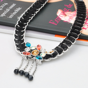 Mail ya na Europe Crystal high-end decorative necklace women fashion short wild Korean rhinestones collar bone chain