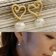 D265 good Korea jewelry authentic ladies love earrings ear studs earrings women''s earrings