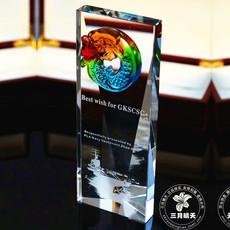 水晶奖杯定制刻字现货 琉璃奖杯奖牌制作 商务颁奖礼品纪念品