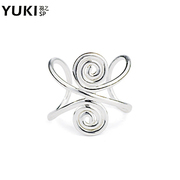 YUKI female silver jewelry 925 Silver ear Clip no ear holes invisible no pain language single vintage original elegance