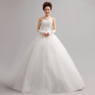 New 2015 fashion Korean wedding dresses brides wedding dress with purple Princess Qi straps drill size in spring and summer
