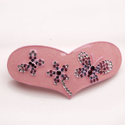 Smiling post by the butterfly heart Korean Barrette clip hair accessories Korea top clamp horizontal clamp head jewelry
