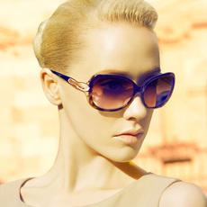 海伦凯勒太阳镜 女 防紫外线 偏光 大框墨镜 欧美复古款 H1308