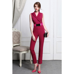Charming retro Blazers violet jumpsuit elegant jumpsuits slim high-waist trousers with bound feet commuting 9047