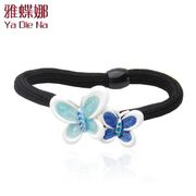 Ya na rhinestone Butterfly hair rope looped elastic buckle made by the Korean fashion hair accessories hair clip D0109