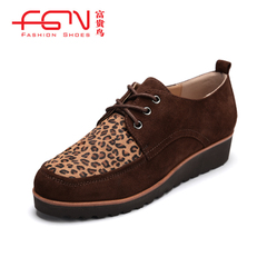 New fuguiniao shoes fall with deep, circular, flat shoes vintage women's shoes
