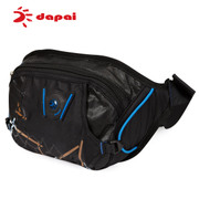 Dapai Korean chest bag sports bag purse black outdoor bag running multi-function key baodan shoulder bag surge