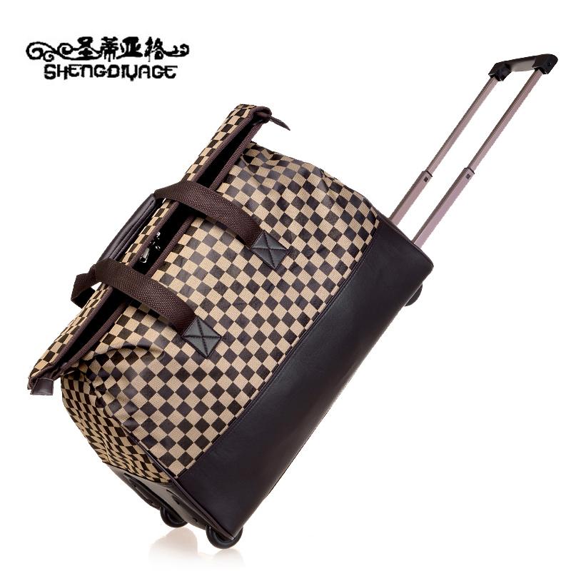 圣蒂亚格手提旅行包女大容量拉杆包出差行李包男士短途旅游旅行袋